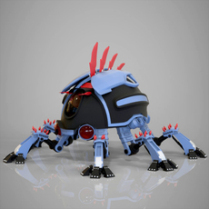 Robotic Beetle 3D Model