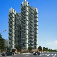 High Rise Residential Building 059 3D Model
