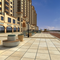 High Rise Residential Building 060 3D Model