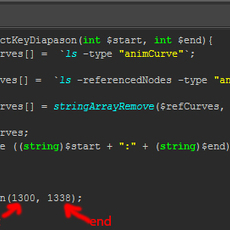 select all keys from (start) to (end)  in the scene for Maya 1.0.0 (maya script)
