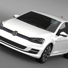 VW Golf BlueMotion Concept Typ 5G 2012 3D Model