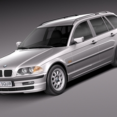 BMW 3-series e46 1998-2001 touring 3D Model