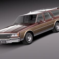 Chevrolet Caprice Estate Wagon 1978 3D Model