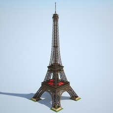 Eiffel Tower High detailed 3D Model