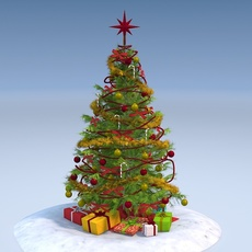 Christmas Tree High Detailed 3D Model