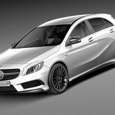Mercedes-Benz A45 AMG 2014 3D Model
