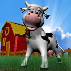 Cartoon Cow Rigged 3D Model