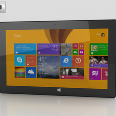 Microsoft Surface Pro 2 3D Model