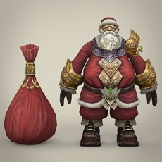 Fantasy Santa Claus with Bag 3D Model
