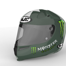 Monster Energy Helmet 3D Model