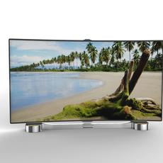 Generic Smart TV Curved 3D Model