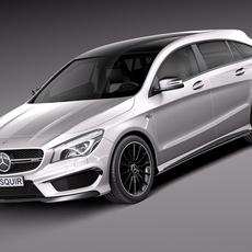 Mercedes-Benz CLA AMG Shooting Brake 2016 3D Model