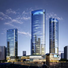 Skyscraper business center 002 3D Model