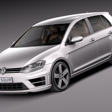 Volkswagen Golf VII R 5-door 2015 3D Model
