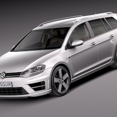 Volkswagen Golf VII R Variant 2015 3D Model