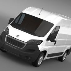 Peugeot Boxer Van L2H2 2014 3D Model