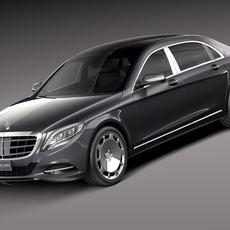 Mercedes-Benz S-Class Maybach 2016 3D Model