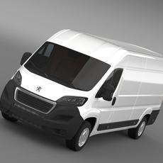Peugeot Boxer Van L4H2 2014 3D Model