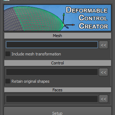 Deforming control creator for Maya 1.5.0 (maya script)