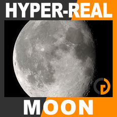 Hyper-Real Dynamic Moon Shader 2.0 3D Model