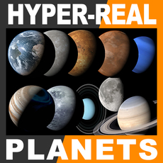 Hyper-Real Planets Pack 2.0 3D Model