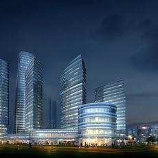 Skyscraper business center 013 3D Model