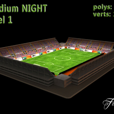 Stadium Level 1 Night 3D Model