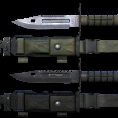 M9 Bayonet Knife Pack 3D Model