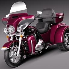 Harley-Davidson TriGlide 2015 3D Model