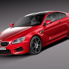 BMW M6 Coupe 2015 3D Model