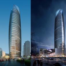 Skyscraper business center 025 3D Model