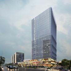Skyscraper business center 035 3D Model
