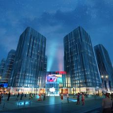 Skyscraper business center 040 3D Model