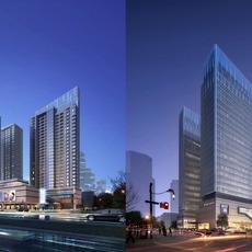 Skyscraper Office Building 001 3D Model