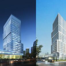 Skyscraper Office Building 008 3D Model