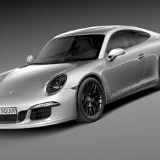 Porsche 911 Carrera GTS Coupe 2016 3D Model