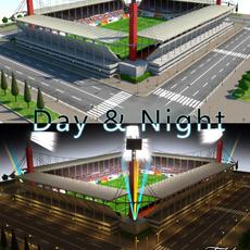 Stadium Level 6 Day&Night 3D Model