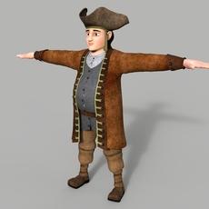 Pirate Cartoon Character 3D Model