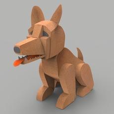 Dog cardboard 3D Model