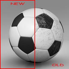 Soccerball black white 3D Model