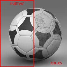 Soccerball black white tri 3D Model
