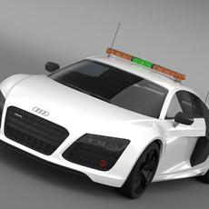 Audi R8 V10plus Safety Car 3D Model