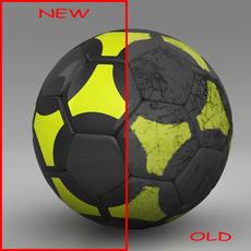 Soccerball black yellow 3D Model
