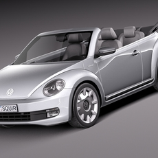 Volkswagen iBeetle Convertible 2015 3D Model