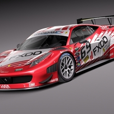 Ferrari 458 GT3 Race Car 2014 3D Model