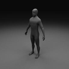 Human Male Clay Model 3D Model