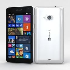 Microsoft Lumia 535 and Dual SIM White 3D Model