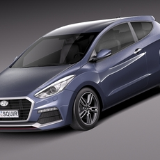 Hyundai i30 Turbo 3-door 2015 3D Model