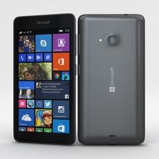 Microsoft Lumia 535 and Dual SIM Gray 3D Model