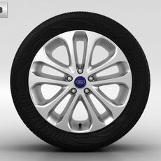 Ford Focus Wheel 17 inch 001 3D Model